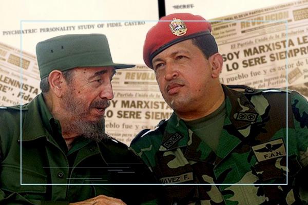 Chavez y Fidel Castro - La izquierda