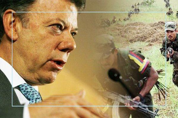 Juan Manuel Santos y las Farc